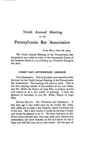 Cover of: Annual Report of the Pennsylvania Bar Association by Pennsylvania Bar Association