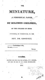 Cover of: The Miniature by Solomon Grildrig