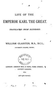 Cover of: Life of the Emperor Karl the Great by EGINHARDUS
