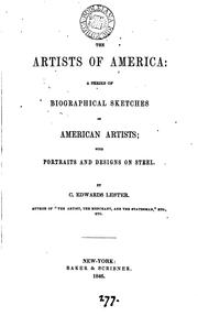 Cover of: The artists of America: a series of biographical sketches by Charles Edwards Lester