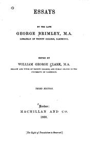 Cover of: Essays by George Brimley