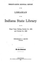 Cover of: Biennial Report | Indiana State Library