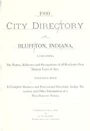 Cover of: 1900 city directory of Bluffton, Indiana | O. T. Frash