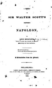 Cover of: A Reply to Sir Walter Scott's History of Napoleon by Louis Bonaparte