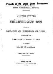 Cover of: United States Internal-Revenue Gaugers' Manual by United States Ofice of Internal Revenue