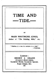 Cover of: Time and Tide by Mary Whitmore Jones