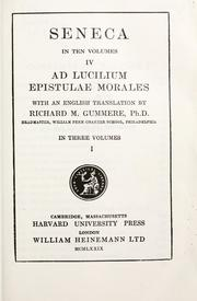 Cover of: Epistulae morales by Seneca the Younger