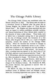 Cover of: The Chicago Public Library: A Handbook by Chicago Public Library