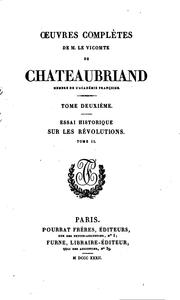 Cover of: chateaubriand | tome ii