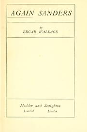 Cover of: Again Sanders | Edgar Wallace