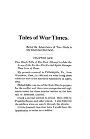 Cover of: Tales of War Times: Being the Adventures of Thomas Hinds During the American Civil War by Thomas Hinds