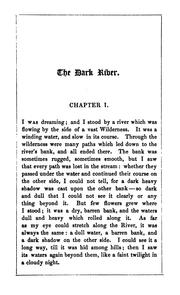 Cover of: The dark river: an allegory by Edward Monro