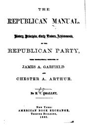 Cover of: The Republican Manual: History, Principles by Eugene Virgil Smalley