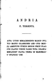 Cover of: P. Terenti Comoediae by P. TERENTI