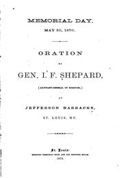 Cover of: Memorial Day,May 30,1870 | Isaac F. Shepard