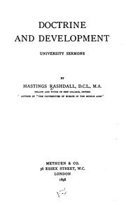 Cover of: Doctrine and Development: University Sermons by Hastings Rashdall