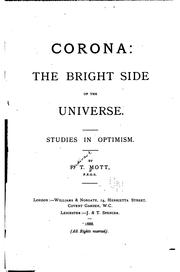 Cover of: Corona: The Bright Side of the Universe. Studies in Optimism | Ferdinand T Mott