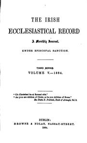 Cover of: The Irish ecclesiastical record by Irish ecclesiastical record