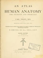Cover of: An atlas of human anatomy for students and physicians | Carl Toldt