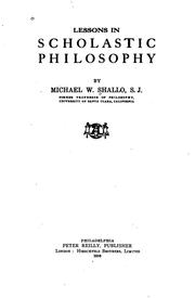 Cover of: Lessons in Scholastic Philosophy by Michael Shallo