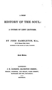 Cover of: A brief history of the soul, 6 sermons by John Hambleton