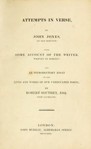 Cover of: Attempts in verse | Jones, John