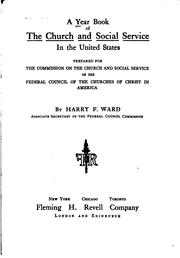 Cover of: A Year Book of the Church and Social Service in the United States by Harry Frederick Ward