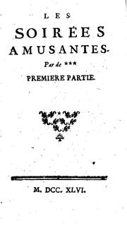 Cover of: Les soirées amusantes by De Paulme
