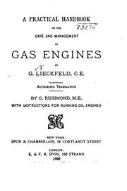 Cover of: A Practical Handbook on the Care and Management of Gas Engines by Georg Lieckfeld