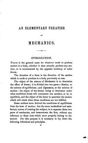 Cover of: An Elementary Treatise on Mechanics by Sir Andrew Searle Hart