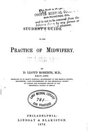 Cover of: The Student's guide to the practice of midwifery by David Lloyd Roberts