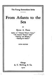 Cover of: From Atlanta to the Sea by Byron Archibald Dunn