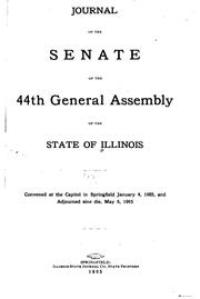 Cover of: Journal of the Senate of the General Assembly by Illinois General Assembly. Senate