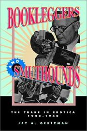 Cover of: Bookleggers and Smuthounds | Jay A. Gertzman