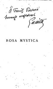 Cover of: Rosa mystica by Stanislas de Guaita