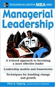 Cover of: Managerial Leadership by Peter Topping