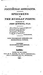 Cover of: Specimens of the Russian Poets by John Bowring