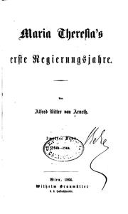 Cover of: Geschichte Maria Theresia's by Alfred Arneth
