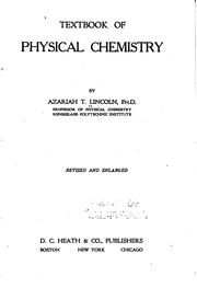 Cover of: Textbook of Physical Chemistry by Azariah Thomas Lincoln