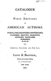 Cover of: Catalogue of First Editions of American Authors by Leon & bro