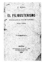 Cover of: El filibusterismo: (continuación del Noli me tangere)novela filipina by Jose Rizal