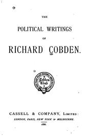 Cover of: Political Writings by Richard Cobden