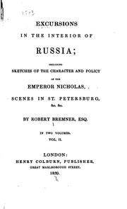 Cover of: excursions in the interior of russia by robert nicholas