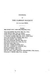 Cover of: The Camden miscellany by Camden Society (Great Britain)