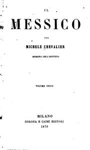 Cover of: Il Messico by Michel Chevalier