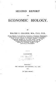 Cover of: Report on Economic Biology by Walter Edward Collinge
