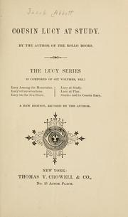 Cover of: Cousin Lucy at play by Jacob Abbott