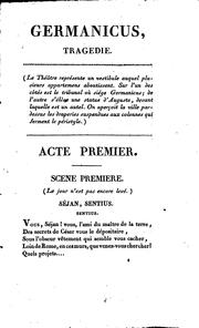 Cover of: Germanicus: tragédie en cinq actes et en vers by Antoine-Vincent Arnault