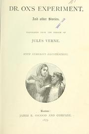 Cover of: Dr. Ox's experiment | Jules Verne