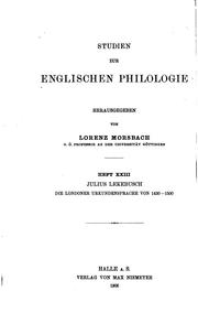 Cover of: Scandinavian loan-words in Middle English by Erik Björkman